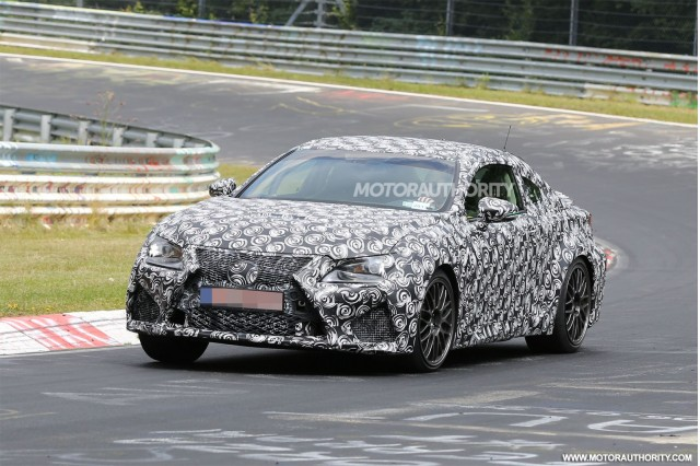 2015 Lexus RC F spy shots