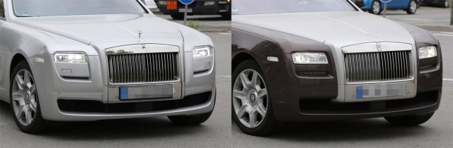 2015 Rolls-Royce Ghost facelift spy shots