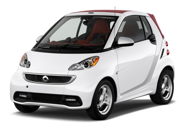 2015 Smart fortwo 2-door Cabriolet Passion Angular Front Exterior View