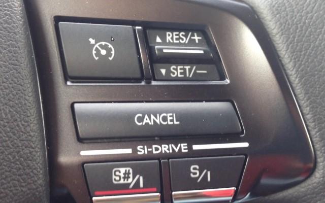 2015 Subaru WRX - drive mode buttons