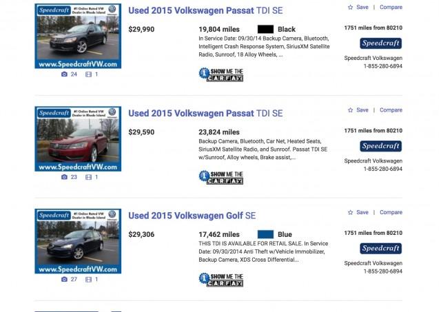 2015 Volkswagen Passat TDI online ads