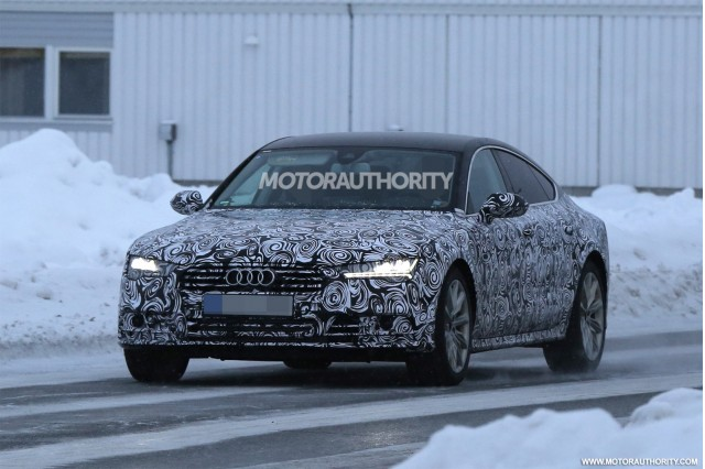 2015 Audi A7 facelift spy shots