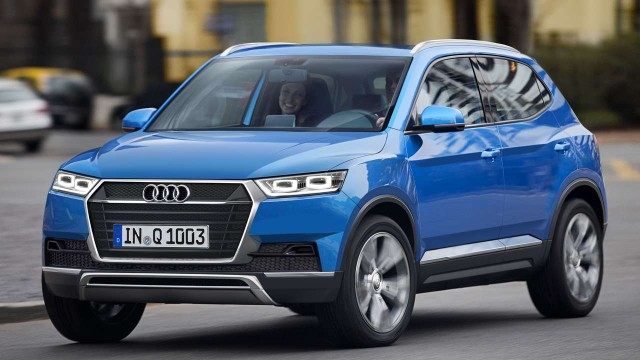 2016 Audi Q1 crossover rendering.
