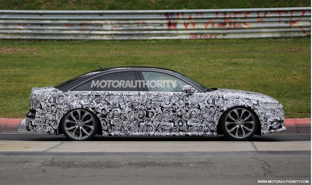 2016 Audi S6 facelift spy shots