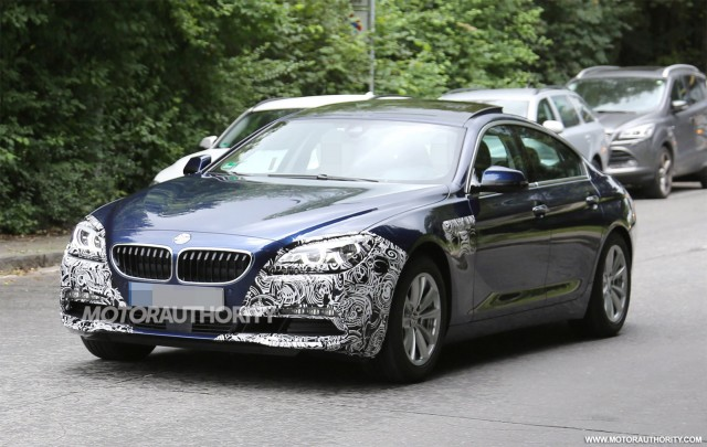 2016 BMW 6-Series Gran Coupe facelift spy shots