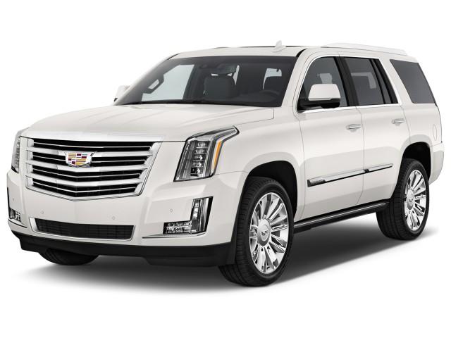 2016 Cadillac Escalade 4WD 4-door Platinum Angular Front Exterior View