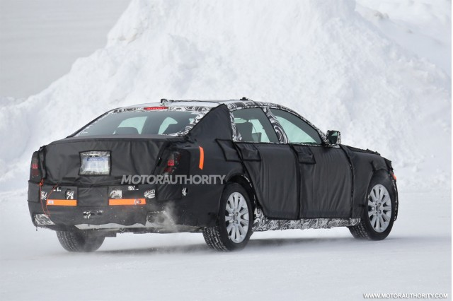 2016 Cadillac LTS flagship sedan spy shots