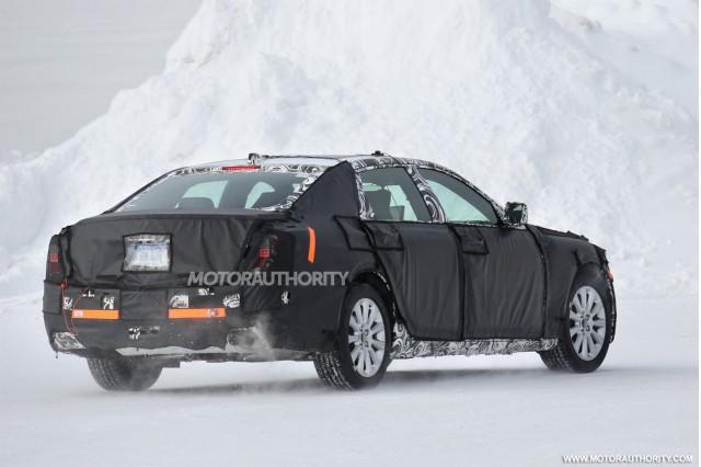 2016 Cadillac LTS flagship sedan spy shots