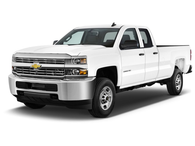 """2016 Chevrolet Silverado 2500HD 2WD Double Cab 158.1"""" Work Truck Angular Front Exterior View"""