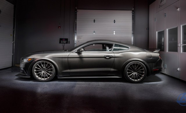 2017 Ford Mustang GT dressed in SpeedKore carbon fiber body