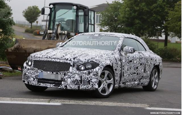 2016 Mercedes-Benz C-Class Cabriolet spy shots