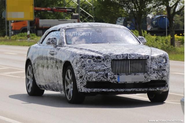 2016 Rolls-Royce Dawn spy shots - Image via S. Baldauf/SB-Medien