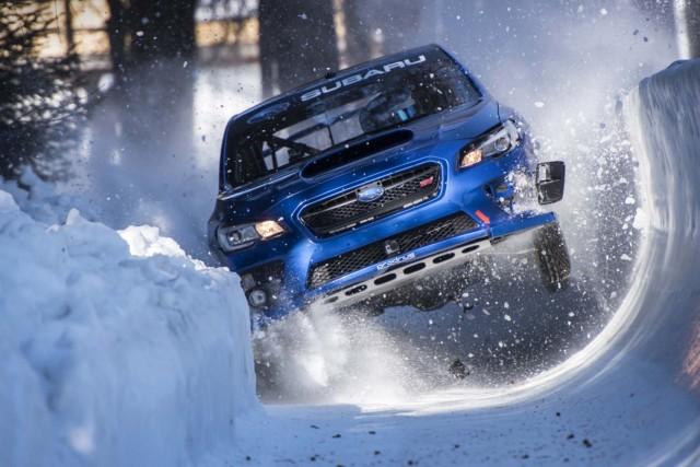 Subaru STI in St. Moritz