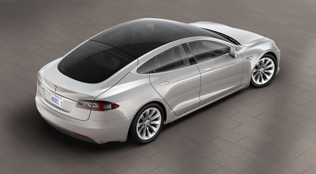 2016 Tesla Model S with glass roof option