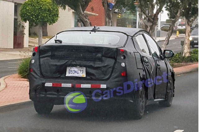 2016 Toyota Prius camouflaged test car, Southern California, Jun 2015 [photo by Cars Direct]