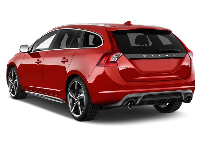 2016 Volvo V60 4-door Wagon T6 R-Design AWD Angular Rear Exterior View
