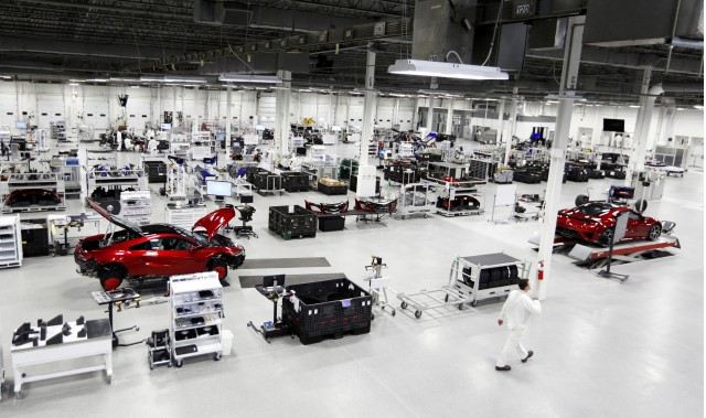 2017 Acura NSX production at the Performance Manufacturing Center in Marysville, Ohio