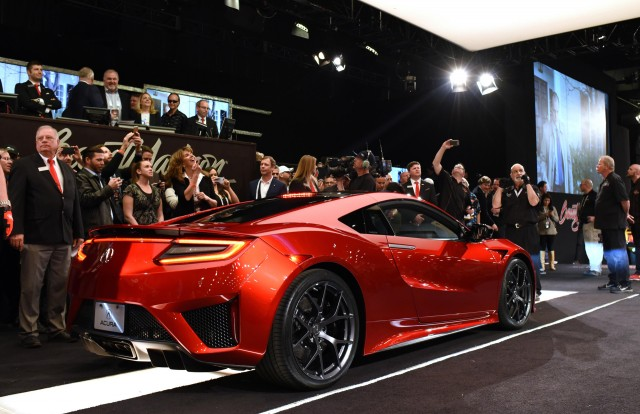 2017 Acura NSX at Barrett-Jackson auction