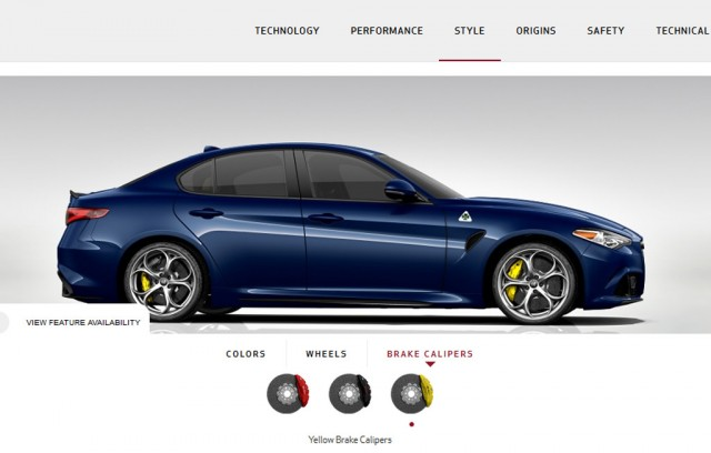 2017 alfa romeo giulia configurator goes live. Black Bedroom Furniture Sets. Home Design Ideas