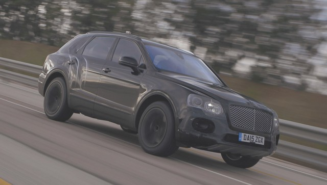 2017 Bentley Bentayga undergoing high-speed testing