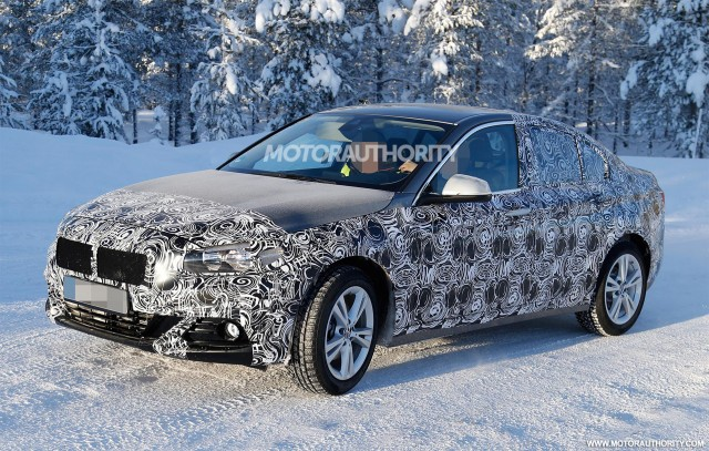 2017 BMW 1-Series sedan spy shots - Image via S. Baldauf/SB-Medien