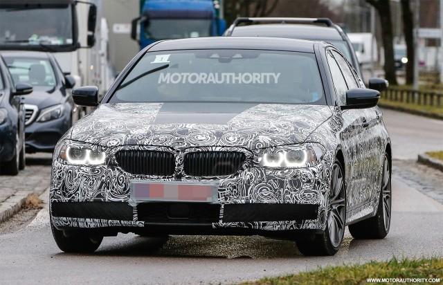 2017 BMW 5-Series spy shots - Image via S. Baldauf/SB-Medien