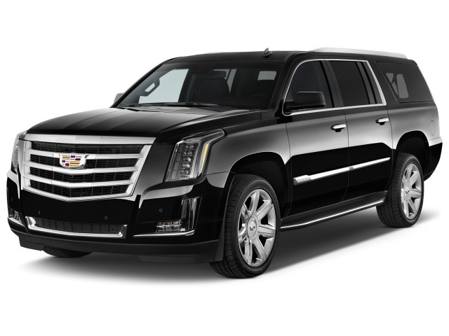 2017 Cadillac Escalade ESV 2WD 4-door Luxury Angular Front Exterior View