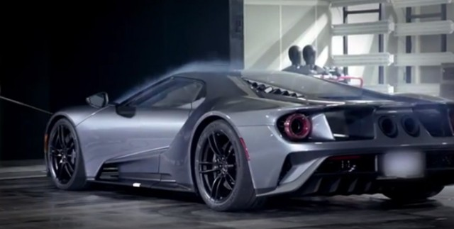 2017 Ford GT in the wind tunnel