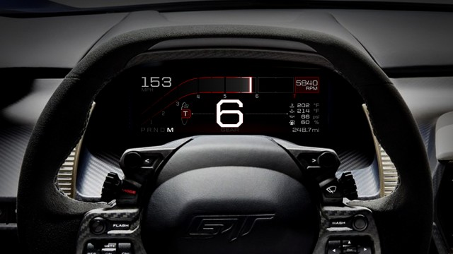 Ford GT instrument cluster Track mode