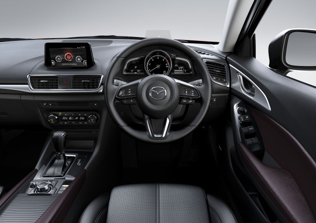 2017 mazda 3 debuts with new look improved dynamics. Black Bedroom Furniture Sets. Home Design Ideas