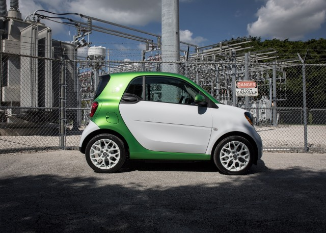 The smart fortwo will be an electric-only model by 2018