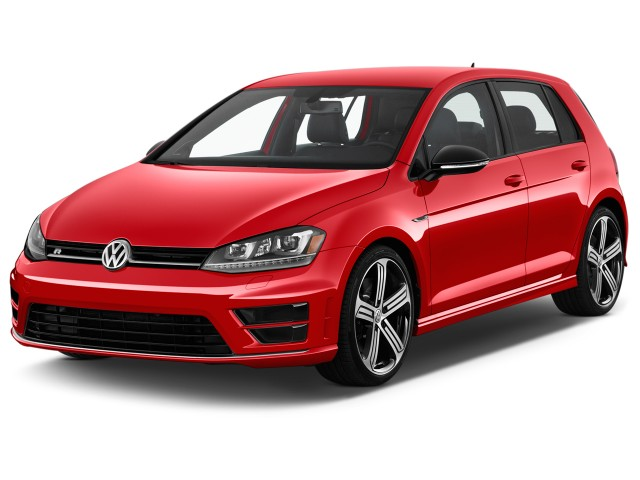 2017 Volkswagen Golf R 4-Door Manual Angular Front Exterior View