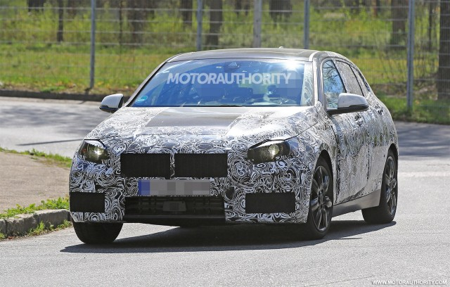 2018 BMW 1-Series Hatchback spy shots - Image via S. Baldauf/SB-Medien
