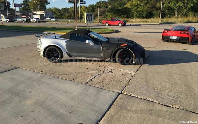 2018 Chevrolet Corvette ZR1 Convertible spy shots - Image via David Wesel/CorvetteBlogger