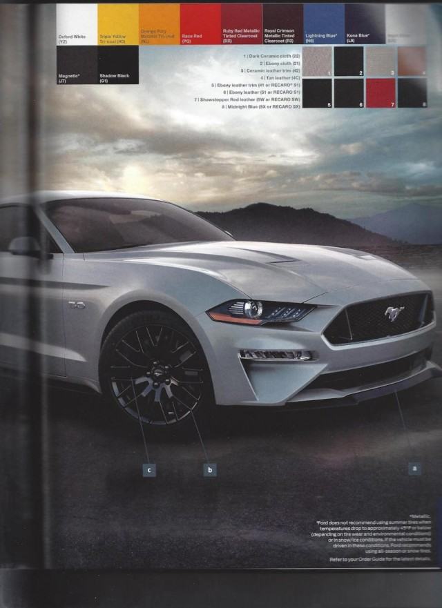 2018 Ford Mustang order guide leaked, Photo: Mustang6g