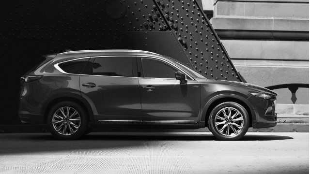 Mazda CX-8 shows its curvy lines in new teaser