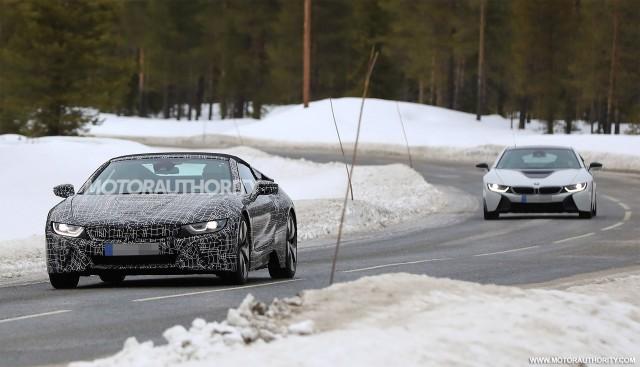 2019 BMW i8 Spyder spy shots - Image via S. Baldauf/SB-Medien