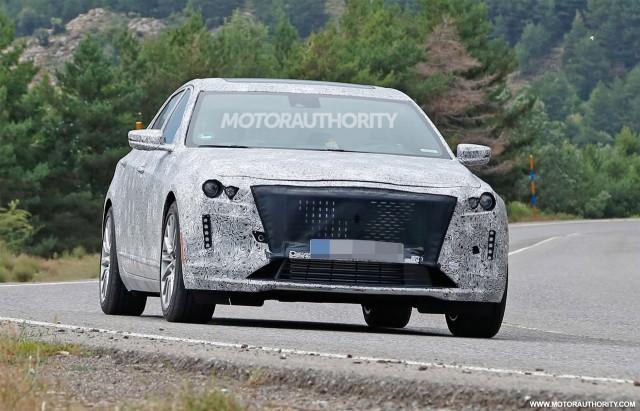 2019 Cadillac CT6 facelift spy shots - Image via S. Baldauf/SB-Medien