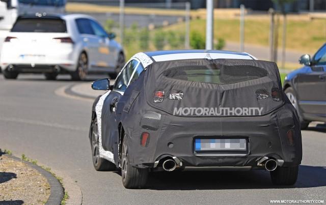 2019 Hyundai Veloster N spy shots - Image via S. Baldauf/SB-Medien