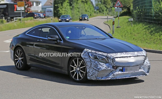 2018 Mercedes-AMG S63 Coupe facelift spy shots - Image via S. Baldauf/SB-Medien