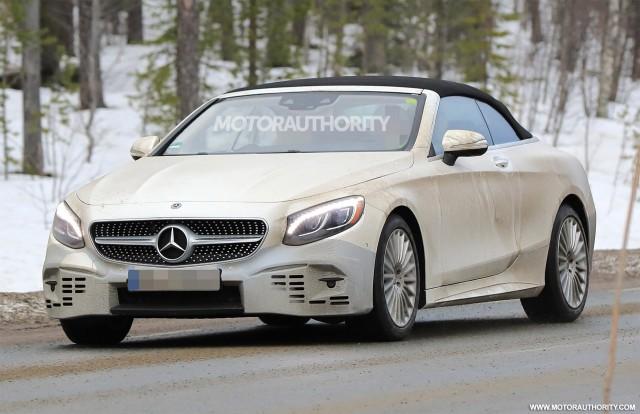 2018 Mercedes-Benz S-Class Cabriolet spy shots - Image via S. Baldauf/SB-Medien