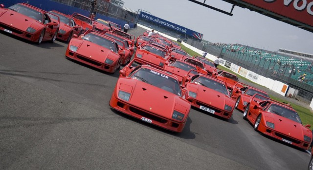 40 Ferrari F40s celebrate the car's 20th birthday in 2007
