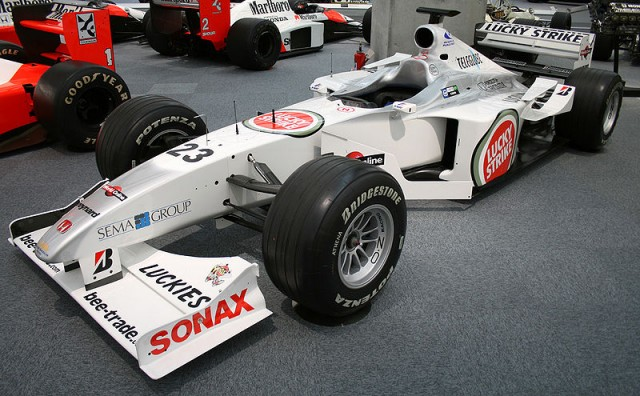 A 2002 BAR chassis, similar to Anthony's. Image: Morio