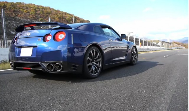 A 2013 Nissan GT-R, testing in Japan