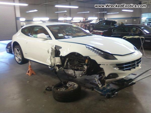 A Ferrari FF, destroyed in a Nashville, Tennessee crash
