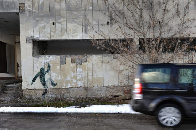 A Land Rover Discovery, near the Chernobyl exclusion zone.
