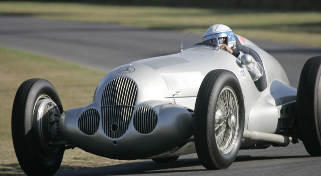 A Silver Arrow Grand Prix car