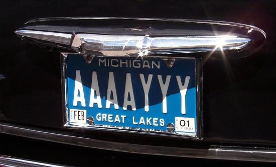 AAAAYYY license plate