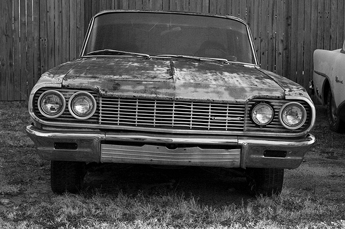 Abandoned Chevy, by TBurton