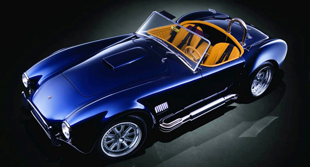 The new Cobra is powered by a 6.2L Corvette V8 and comes with Porsche brake hardware